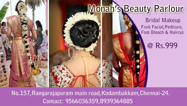 Monah's Beauty Parlour in Kodambakkam